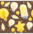 bulb pattern light lamp diode illuminations vector image