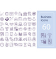 business icon big set outline icons for vector image vector image