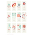 calendar 2014 cute patterns vector image vector image
