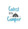 camp quote lettering typography vector image vector image