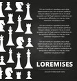 chess pieces chalkboard vector image