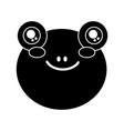 cute animal frog head baby vector image vector image