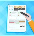 cv resume template design vector image vector image