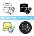 datacenter security icon vector image