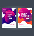 deep sound abstract poster for electronic music vector image vector image