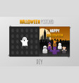 diy happy halloween scary postcard vector image vector image
