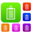 document plan set collection vector image vector image