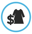 Dress Price Flat Rounded Icon vector image