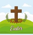 easter celebration design vector image vector image