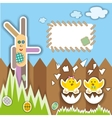 Easter scrapbook elements vector image vector image