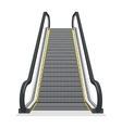 Escalator isolated on white background vector image