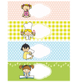 girl stickers vector image vector image