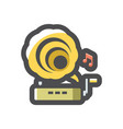 gramophone musical equipment icon cartoon vector image