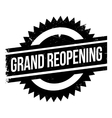 Grand reopening stamp vector image vector image