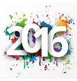 Happy 2015 new year with spray paint vector image