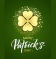 happy saint patricks day greeting poster vector image vector image