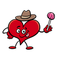 heart cartoon character vector image vector image