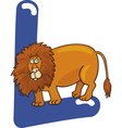 L for lion vector image vector image
