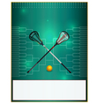 Lacrosse Tourney Bracket Flyer Blank vector image vector image