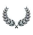 laurel leaves wreath vector image vector image
