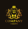 luxury letter u logo vector image vector image