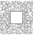 magnolia frame composition vector image