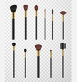 makeup brushes comb for eyebrows spoolie with vector image vector image
