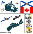 Map of Nova Scotia vector image vector image