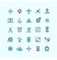 Maps and location flat icons vector image vector image