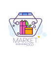 market logo design bright sale badge label for vector image vector image