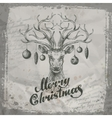 Merry Christmas Deer and Christmas toys vector image