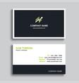 minimal business card print template design black vector image