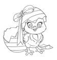 outlined cute bachick just hatched from egg vector image vector image
