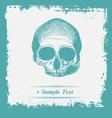 Paper art Human Skulls vector image