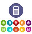 portable radio icons set color vector image vector image