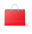 Red shopping bag isolated on white background vector image vector image