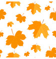 seamless pattern autumn yellow leaves vector image