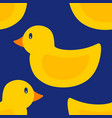 seamless pattern of rubber duck toy vector image