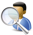 Search user icon vector image vector image
