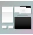 set corporate identity style template design vector image
