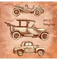 set of vintage cars vector image
