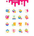 set simple icons software testing vector image vector image