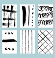 Sketch set of grunge tags vector image vector image