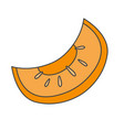 slice of ripe melon flat icon vector image vector image