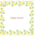 spring greeting card - happy easter vector image vector image