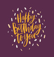 square b-day greeting card or postcard template vector image vector image