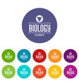 structure biology icons set color vector image vector image