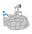 submarine military icon cartoon submarine vector image vector image