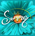 summer poster with handwritten text and symbol of vector image vector image
