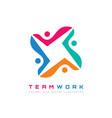 teamwork - logo template concept vector image